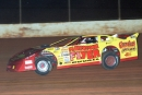 Mike Duvall heads to victory in the 1999 Shrine Race at Cherokee Speedway in Gaffney, S.C. The Flintstone Flyer led all 50 laps for a $5,000 triumph. (Todd Turner)