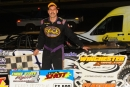 Kenny Pettyjohn of Millsboro, Del., collected $3,500 for Aug. 30's Three State Flyers victory at Winchester (Va.) Speedway. (Travis Trussell)