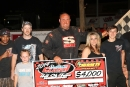 Rambo Franklin enjoys victory lane after winning his third straight Carolina Clash Super Late Model Series feature on Sunday night at Cherokee Speedway in Gaffney, S.C. (Zack Kloosterman)