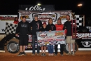 Casey Roberts and his team enjoy victory lane April 25 in Old Man's Garage Spring Nationals action at Smoky Mountain Speedway. (mrmracing.net)