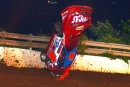 Earl Pearson Jr.'s car takes a hard tumble into turn three May 29 in Lucas Oil Late Model Dirt Series action at Tazewell (Tenn.) Speedway. (dt52photos.com)