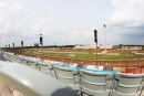 A view of Lucas Oil Speedway from the homestretch stands before the start of the Show-Me 100 weekend's opener on Thursday night. (heathlawsonphotos.com)
