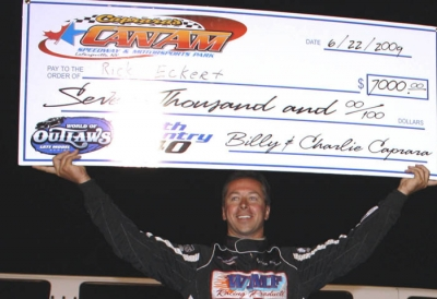 Rick Eckert picked up his second WoO win of '09. (turn4photos.com)
