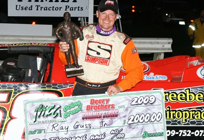 Ray Guss Jr. became the first three-time winner on the series. (mikerueferphotos.photoreflect.com)
