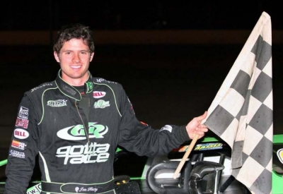 Jon Henry visits his fourth ALMS victory lane. (Steve Datema)