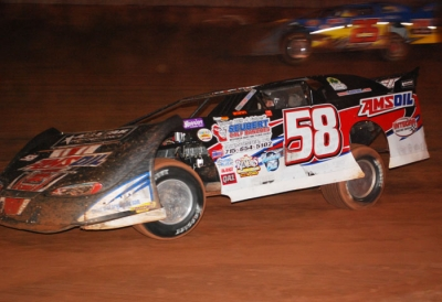A.J. Diemel heads for victory at Langlade County. (A&H Photos)