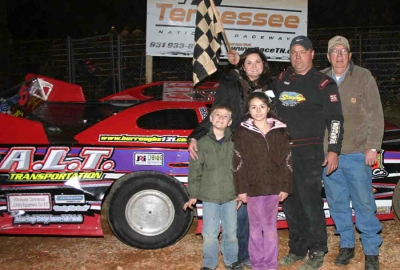 Anthony Burroughs in victory lane. (Doris Cherry)