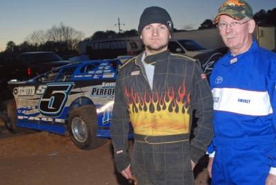 Driver Michael Page and car owner Lonnie Morse