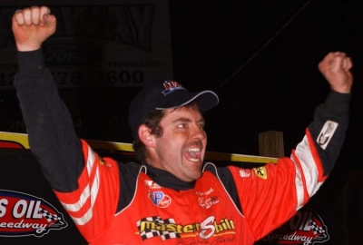 Ray Cook celebrates his first Bulls Gap victory. (rpmphotos.net)