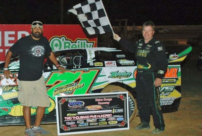 Chris Wall visits victory lane at Baton Rouge. (Paul DuRoy)