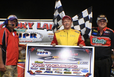Ronny Adams in victory lane at USA. (Vicki Donaldson)