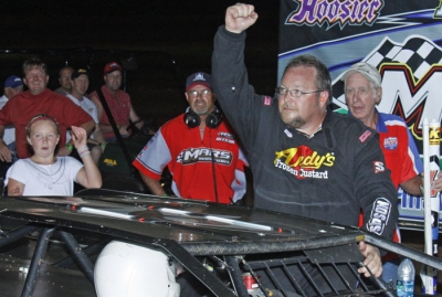 Terry Phillips emerges from his car. (Ron Mitchell)