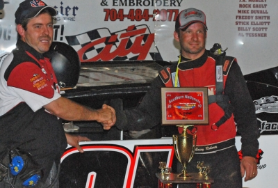 Casey Roberts visits victory lane. (Kyle Armstrong)
