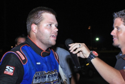 Neil Baggett talks about his victory. (Best Photography)