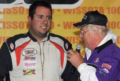Marshall Fegers talks about his $6,000 victory. (crpphotography.com)