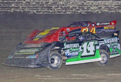Jesse Stovall (14jr) heads for victory. (Woody Hampton)