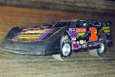 Davey Johnson heads for victory at PPMS. (Frank Wilson)