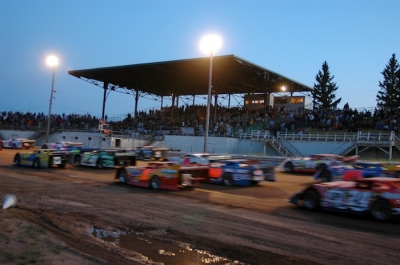 Hibbing Raceway is undergoing a facelift, including a widening of turn three, before its richest race. (chrisburback.com)