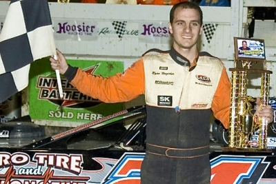Ryan Unzicker earned $4,000 on April 3 at Peoria (Ill.) Speedway. (Rich Edwards Jr.)