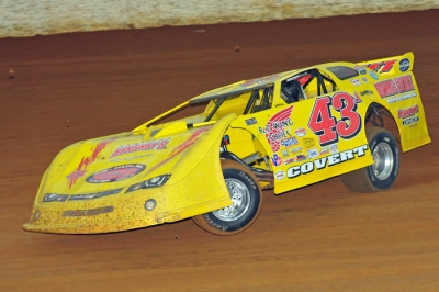 Jason Covert ruled Winchester Speedway on May 7. (Travis Trussell)