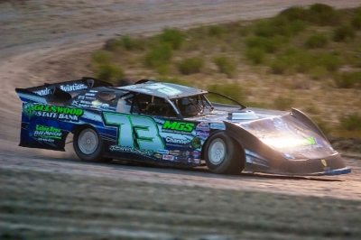 Zach Johnson won from the pole position at Southwest Speedway. (Layne Mulder)