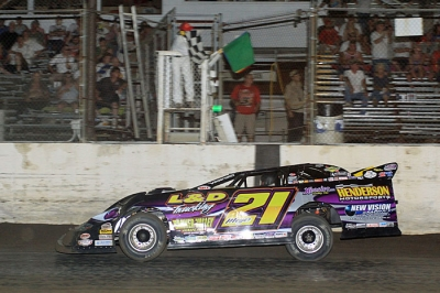 Billy Moyer scored a $10,000 victory at I-55 Raceway. (stlracingphotos.com)