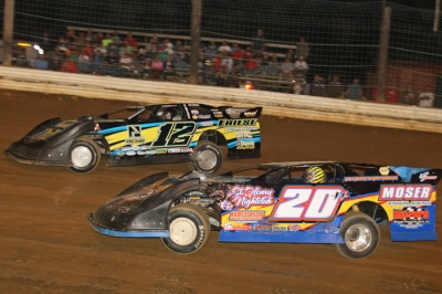 Devin Friese (12) battles Jacob Hawkins (20H) en route to his victory at Roaring Knob. (Tommy Michaels)