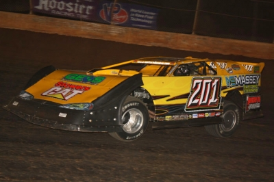 Billy Ogle Jr. steers toward victory at Boyd's. (Ronnie Barnett)