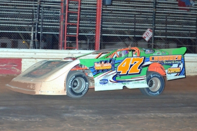 Tyler Ivey takes the checkers at Waycross. (Troy Bregy)