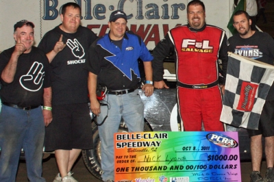 Nick Lyons and his team visited victory lane twice at Belle-Clair. (photobilly.smugmug.com)