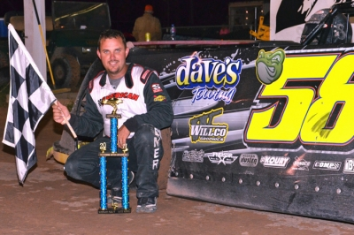Mark Whitener took the checkers at Waycross. (Troy Bregy)
