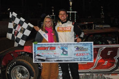 Travis Yow earned $4,200 at County Line Raceway. (Redclay Rebel Photography)