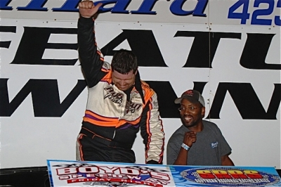 Riley Hickman earned $3,000 at Boyd's Speedway for his second SRRS victory. (photobyconnie.com)