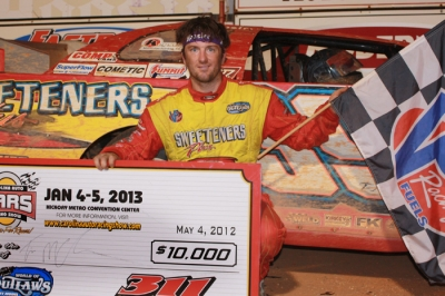 Tim McCreadie picks up a victory at 311 Motor Speedway. (Kevin Kovac)