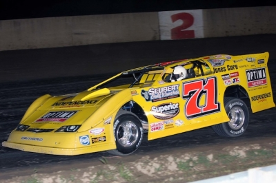 Don O'Neal heads for a $10,000 victory, his first-ever win in Michigan. (Jim DenHamer)