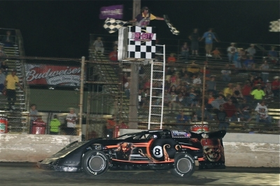 Scott Weber crosses the finish line for his second PCRA victory of 2012. (stlracing.com)
