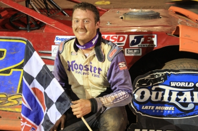 Chris Garnes shocked World of Outlaws drivers with a victory at I-77 Raceway Park. (Kevin Kovac)