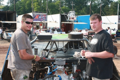 Ross Robinson (left) will crew for John Lobb (right) as well as race Thursday in Delaware. (Kevin Kovac)