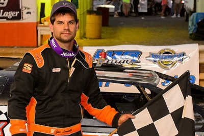 Joey Leavell made two visits to victory lane at Hagerstown. (wrtspeedwerx.com)