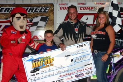 Brandon Thirlby becomes the first two-time winner on the Michigan Dirt Cup. (Steve Datema)