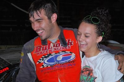 Dustin Linville and his wife Shae celebrate at Wartburg. (photobyconnie.com)