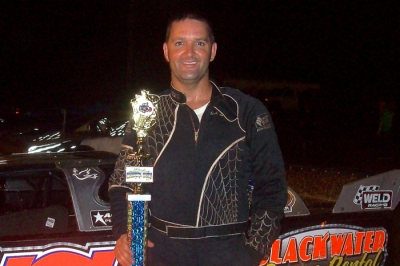 Shep Lucas won Flomaton Speedway's Jarrod Johns Memorial. (Jonathan Joiner)
