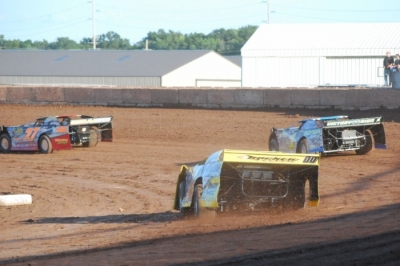 Drivers tune up Tuesday at Shawano, Wis. (Shawn Fredenberg)