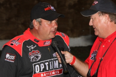 Don O'Neal tells the Florence crowd about his fast time. (Jeremey Rhoades)