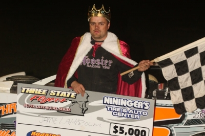 Jamie Lathroum was crowned King of the Knob. (Tommy Michaels)