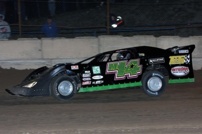 Brandon Thirlby heads for his third Michigan Dirt Cup victory and the series title. (Jim DenHamer)