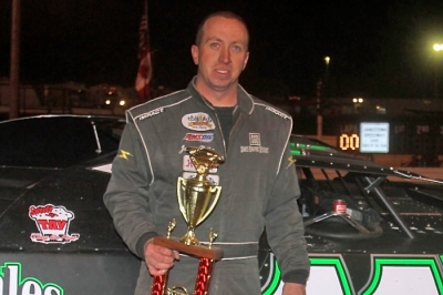 Jeremy Keller earned $2,500 for his Stock Car Stampede victory. (crpphotography.com)