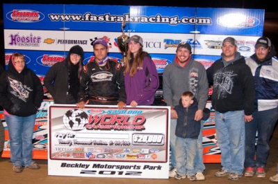 Max Blair's team enjoys victory lane at Beckley. (peepingdragonphotography.com)