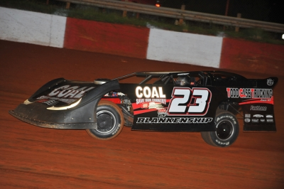 John Blankenship heads for victory at Rome. (mrmracing.net)