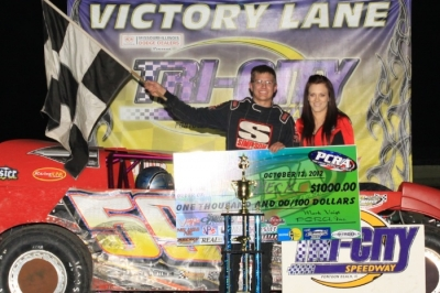 Aaron Heck won the PCRA finale at Tri-City. (stlracingphotos.com)
